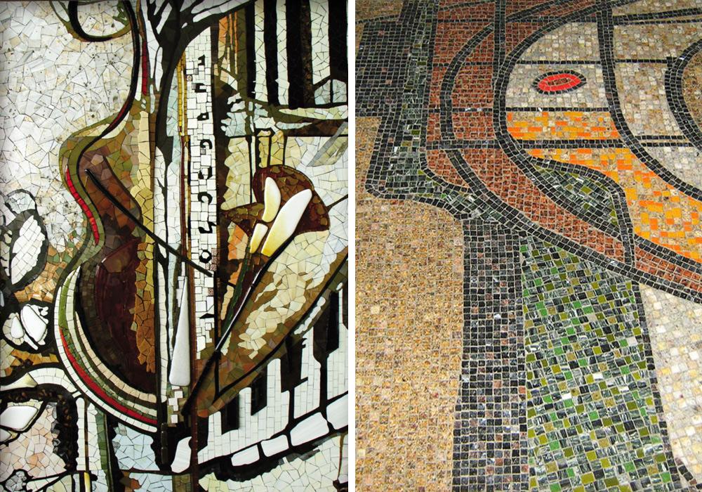 Mosaik Kunst mit abstrakten Motiven kaufen