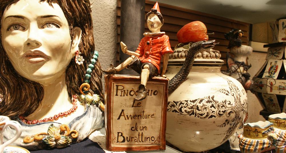 Pinocchio aus Keramik