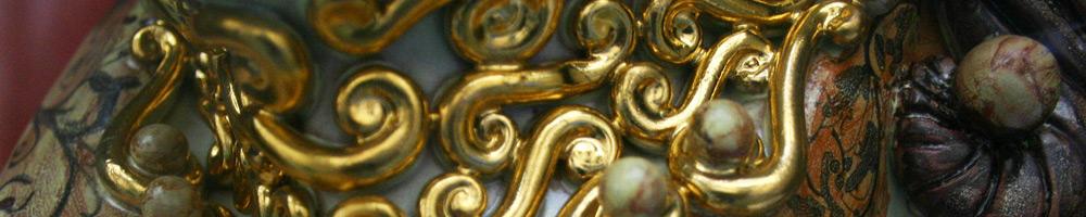 zafrane München Keramik Kunst mit Vergoldung