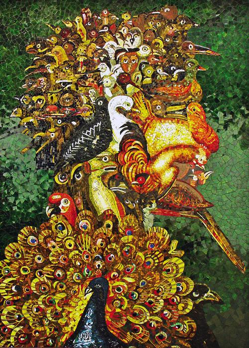 Mosaik nach Arcimboldo, Die Luft