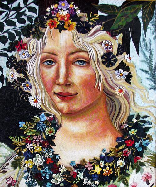 Mosaik nach Sandro Botticelli, Allegorie des Frühlings