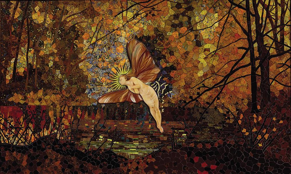 Mosaik Interpretation nach John Atkinson Grimshaw