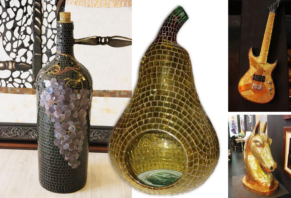 Diverse Objekte mit Mosaiken