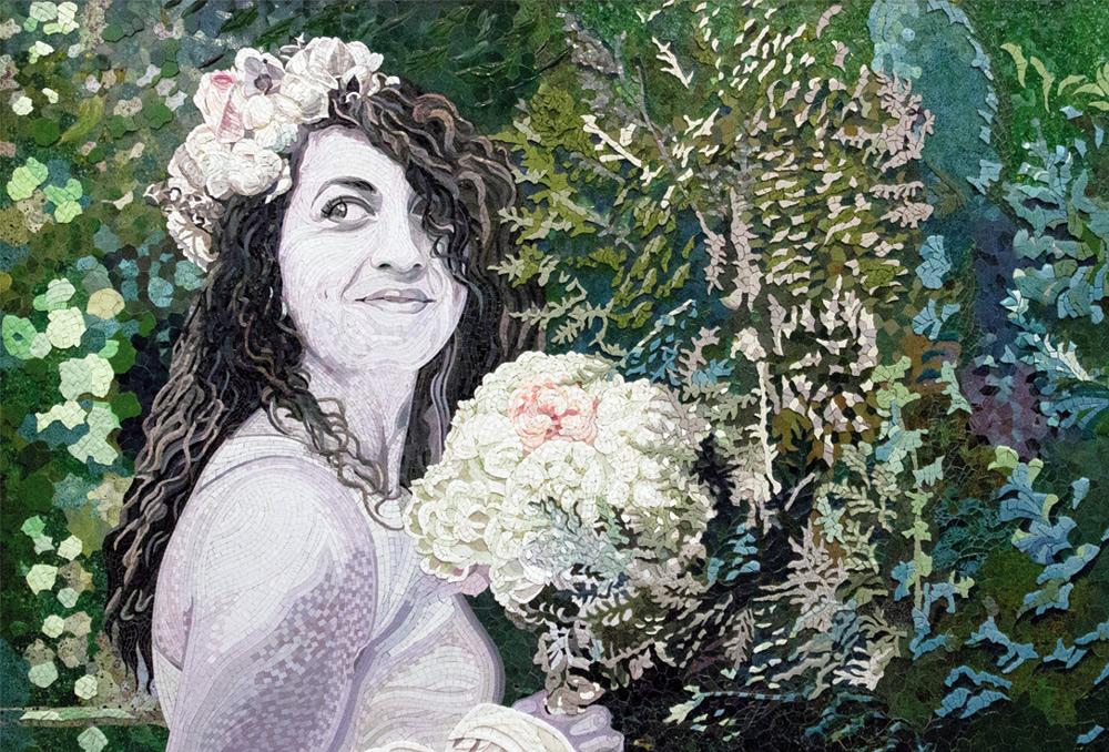 zafrane München Mosaik Portrait einer Hochzeitsbraut