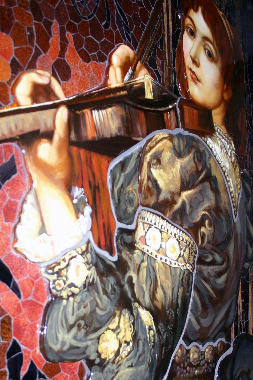 Detailansicht des Mosaiks nach Watts