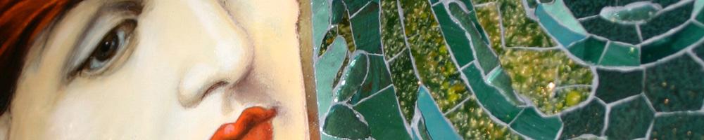 Mosaikbilder mit Glasmalerei