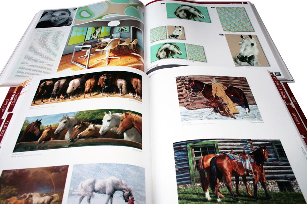 Kunstkatalog mit Pferdemotiven