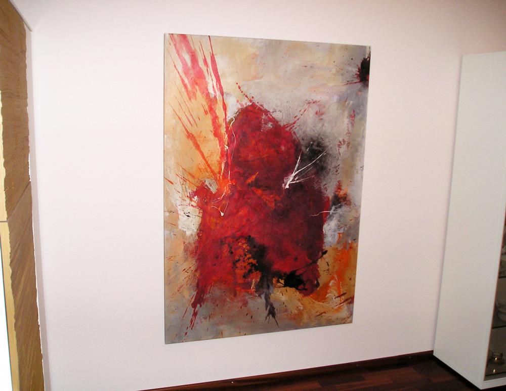 Kundenphoto eines abstrakten Bildes von zafrane München
