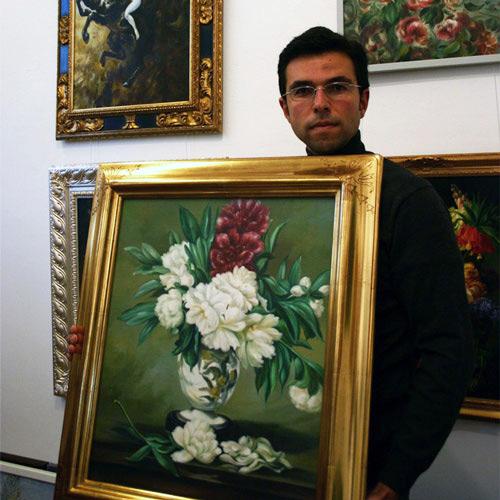 Blumenbilder handgemalte Ölbilder