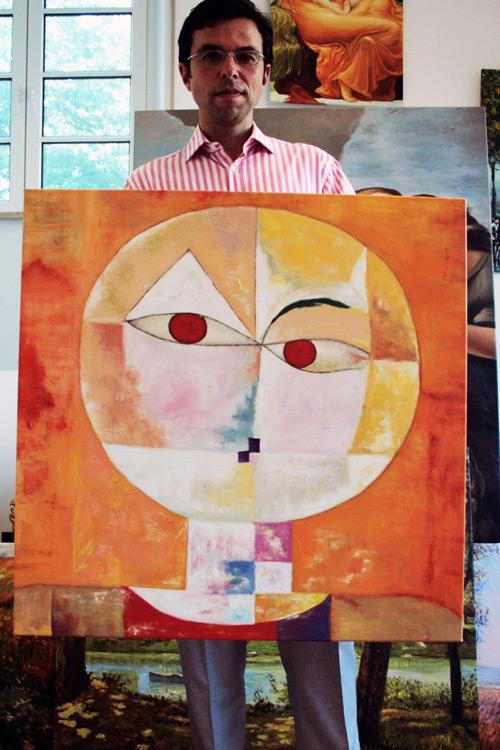 Senecio nach Paul Klee, Gemaeldekopie in Oel auf Leinwand