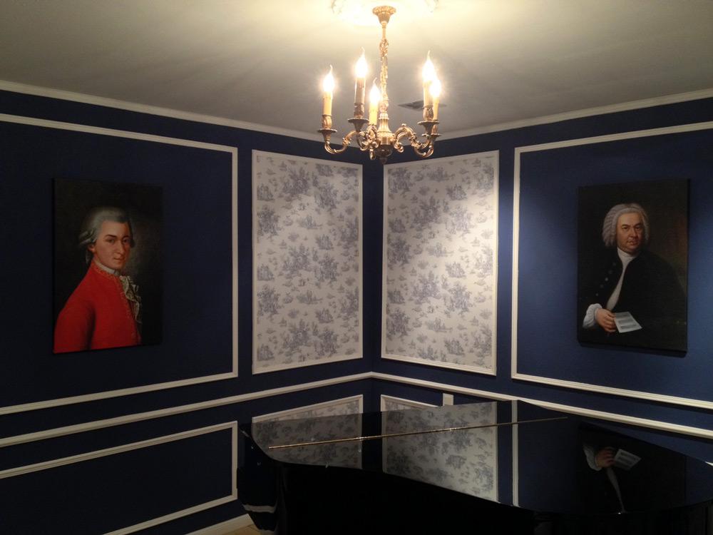 Klassische Gemaeldekopien von Bach und Mozart