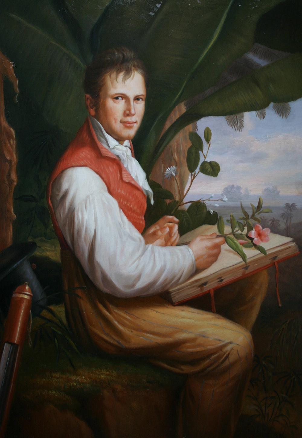 Gemäldekopie auf Holz, Alexander von Humboldt nach Friedrich Georg Weitsch