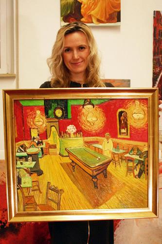 Impressionismus Oelgemaelde van Gogh Nachtcafe