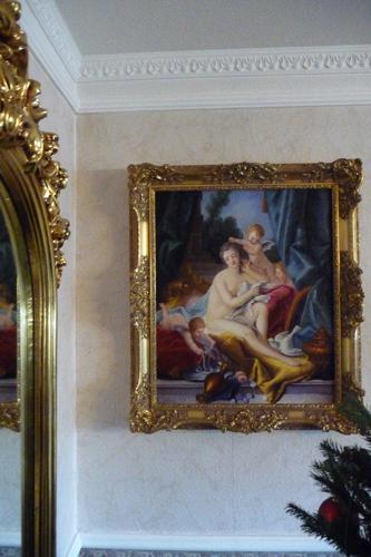 Klassisches Ölbild im Rokoko Rahmen