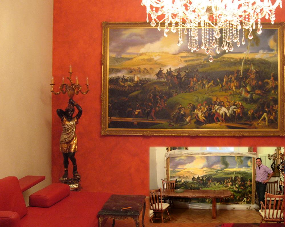 Gemäldekopie nach Lejeune, Die Schlacht von Borodino im Rahmen Bischof