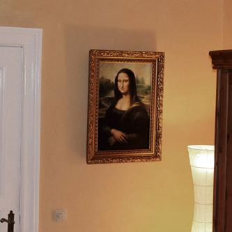 zafrane Gemäldekopie der Mona Lisa in Öl auf Leinwand
