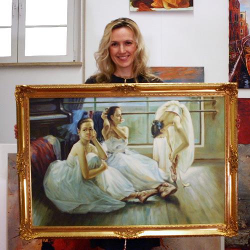 Gemäldekopie mit Tänzerinnen in Öl kaufen