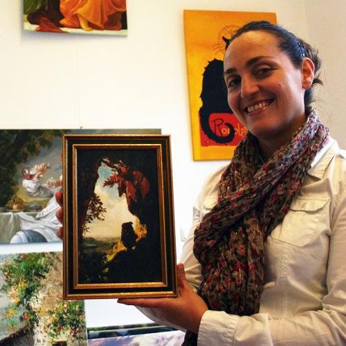 Gemäldekopie nach Spitzweg kaufen