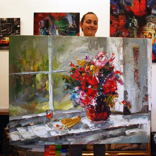 Impressionistisches Blumengemälde