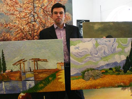 Zwei impressionistische Ölgemälde nach van Gogh