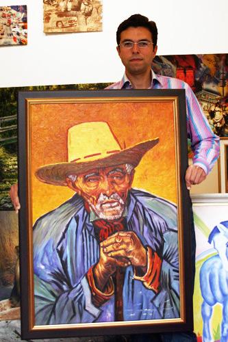 Impressionistisches Ölbild nach Vincent van Gogh