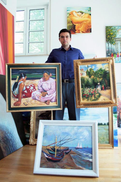 Impressionistisches Gemäldekopien mit Rahmen
