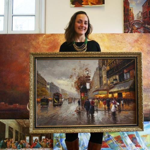 Paris Gemälde im impressionistischen Stil