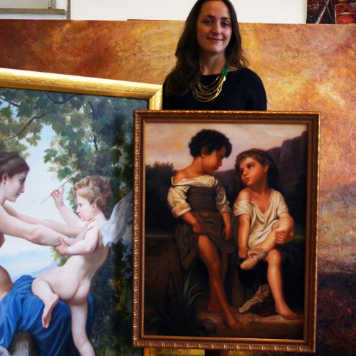 Ölbild nach Bouguereau, Klassizismus