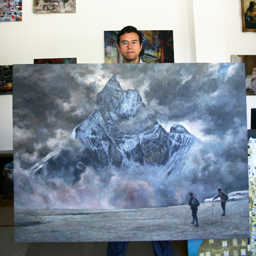 Landschaftsgemälde Russischer Maler