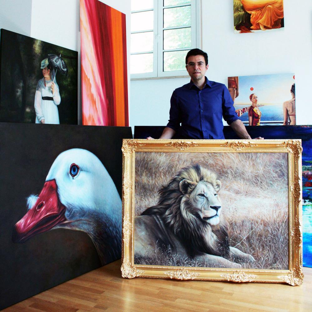 Auftragsmalerei mit Löwen