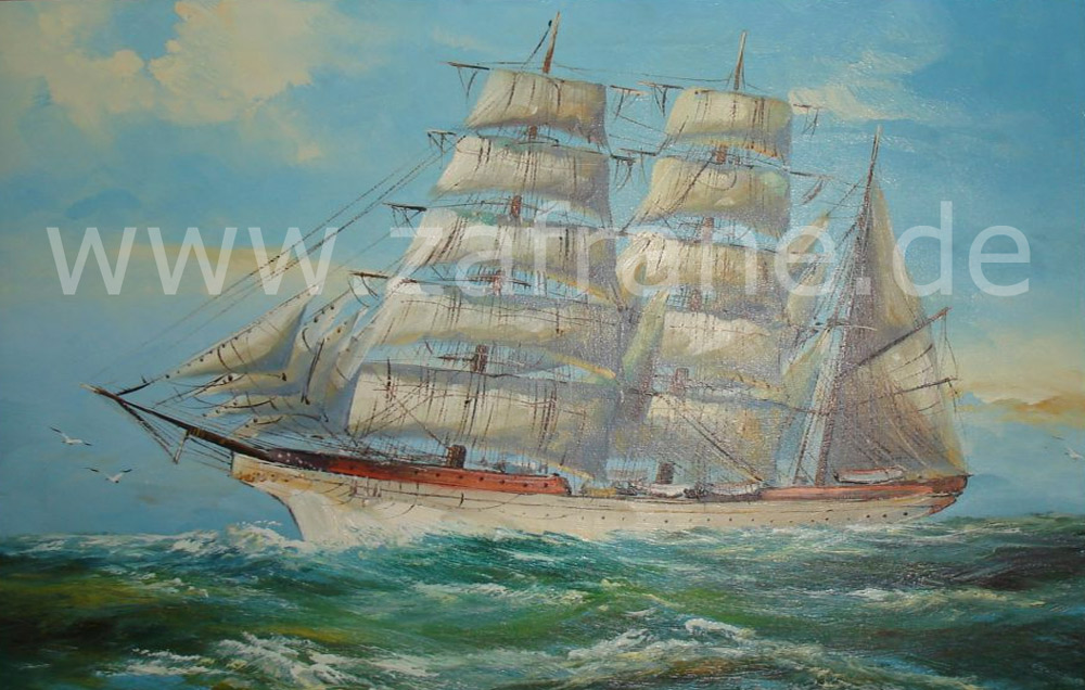zafrane München Maritime Deko mit einem Segelschiffgemälde