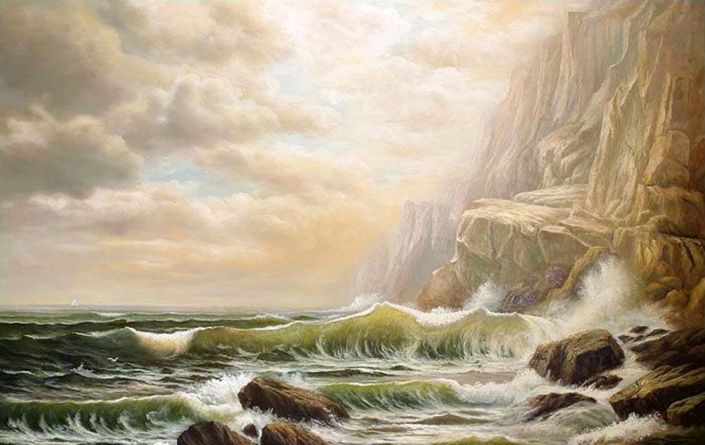 Maritimes Ölgemälde nach William Richards