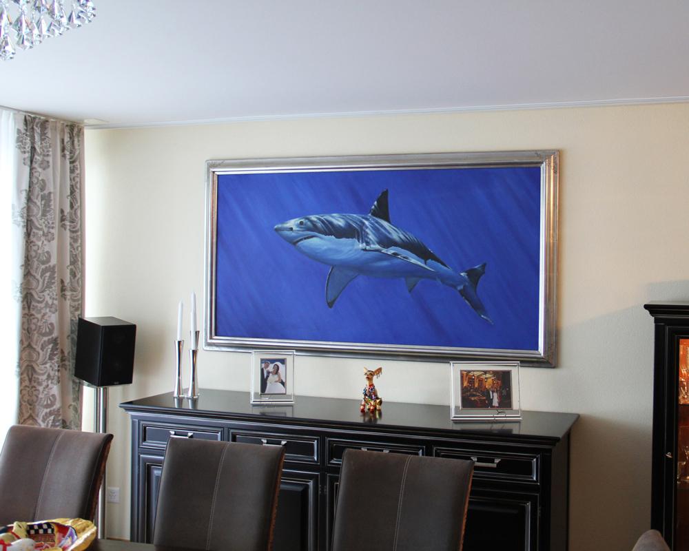 Unterwassergemälde mit Haifisch