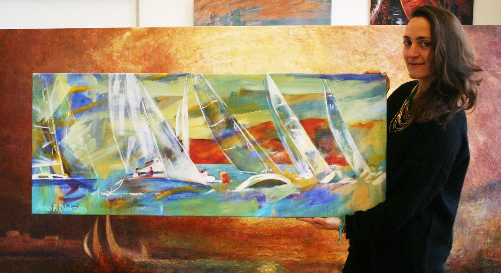 Modernes maritimes Wandbild
