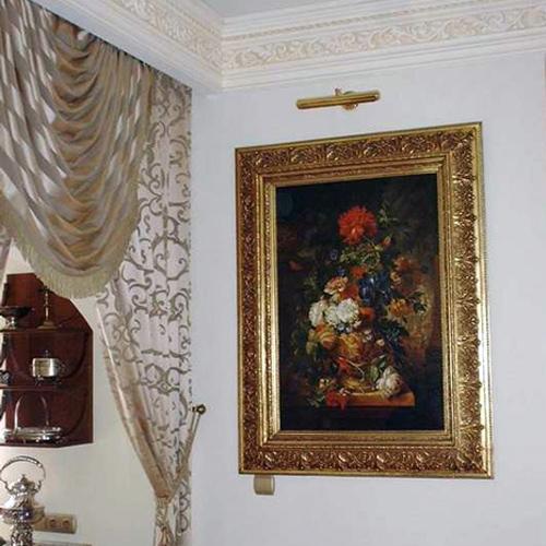 Blumenbild im imposanten Rahmen