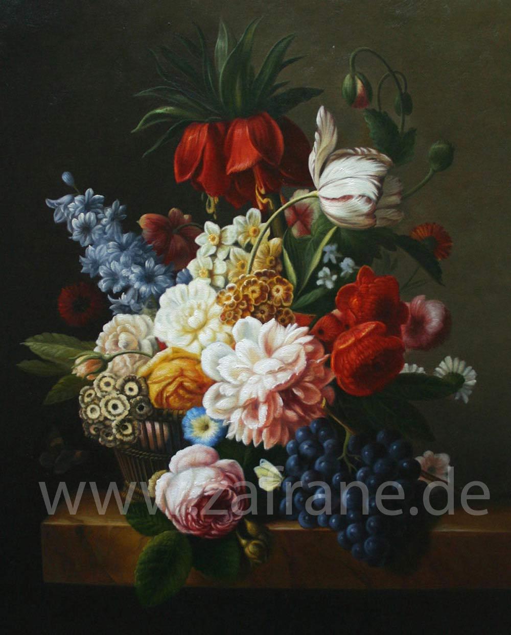 Blumengemälde in Öl auf Leinwand