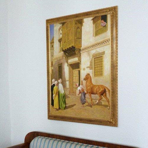 Gerome Ölbilder kaufen Pferdehändler in Kairo