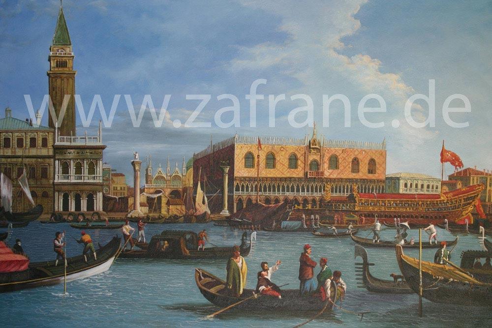 Maritimes Ölgemälde nach Canaletto