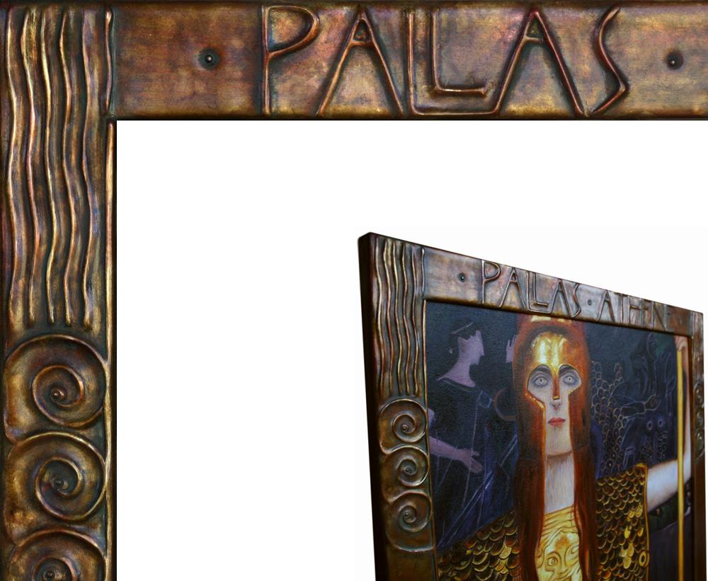 Klimt Reproduktion und Rahmen Pallas Athene