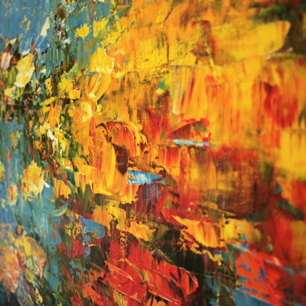 Abstraktes Wandbild mit Pinselstruktur