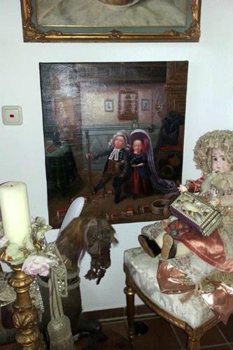 Die Pfarrerskinder, Gemälde nach Hasenclever