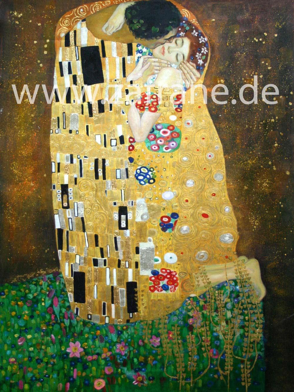 Klimt Ölbild Der Kuss