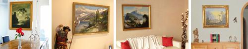 Landschaftsmalerei in Öl auf Leinwand