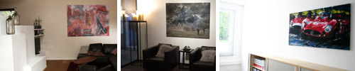 Kundenphotos mit moderner Malerei