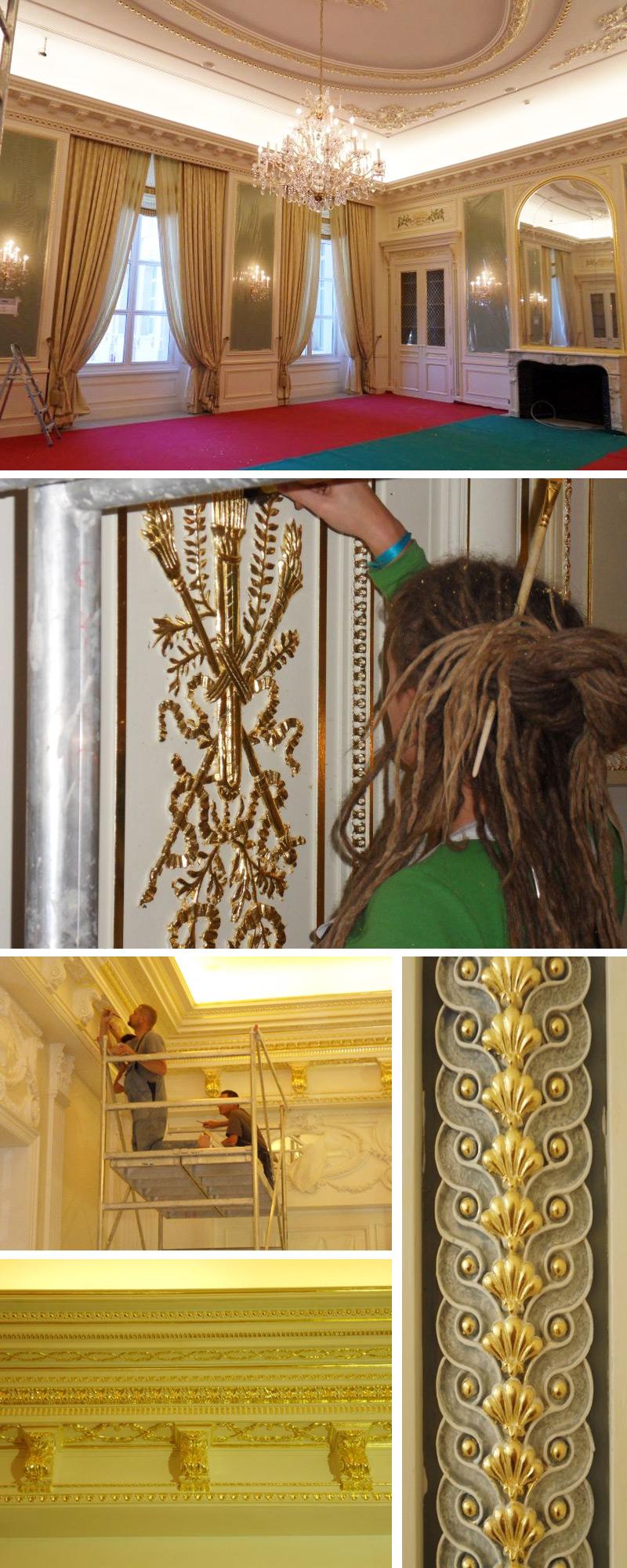 Restaurierung von historischen Räumen